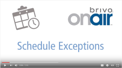 Brivo OnAir Schedule Exceptions