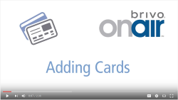 Brivo OnAir Adding Cards