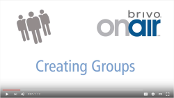 Brivo OnAir Creating Groups